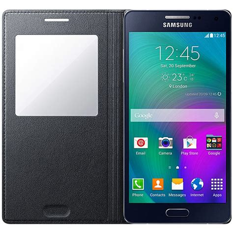 Transparan View Flip Cover For Samsung Galaxy A5 A510 2016 samsung galaxy a5 2015 s view flip ef ca500bc charcoal black