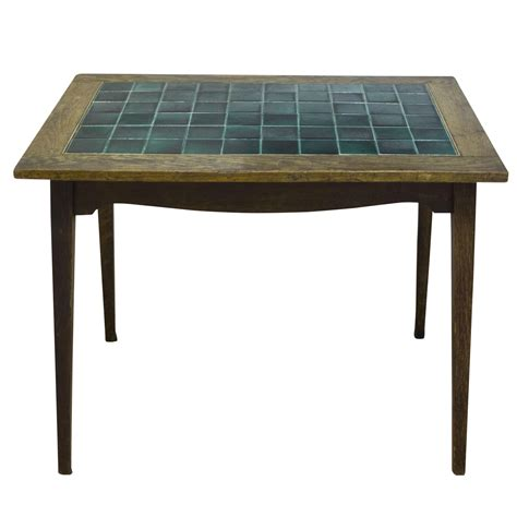 antique english wood and tile top pub table chairish