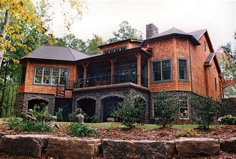 side slope house plans craftsman style hillside house plan family home plans blog