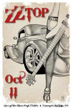 La Grange Aerosmith by Zz Top On Concert Posters Aerosmith And