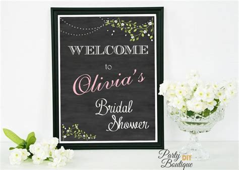 printable bridal shower signs bridal shower sign chalkboard welcome sign bridal