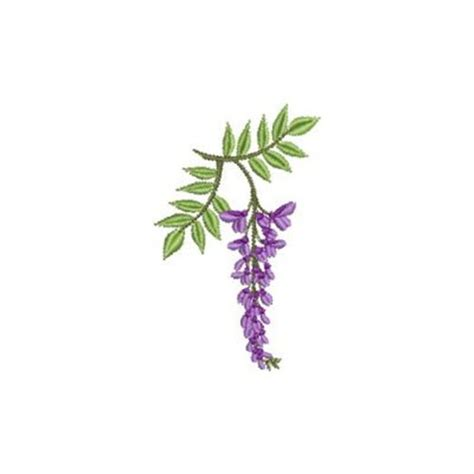 wisteria flower embroidery designs machine embroidery