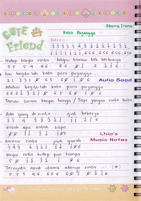 gudang lagu rhoma irama macam not angka rhoma irama kata pujangga lhia s music notes