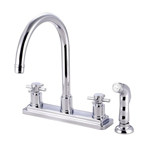 shop kitchen faucets shop elements of design concord chrome 2 handle high arc