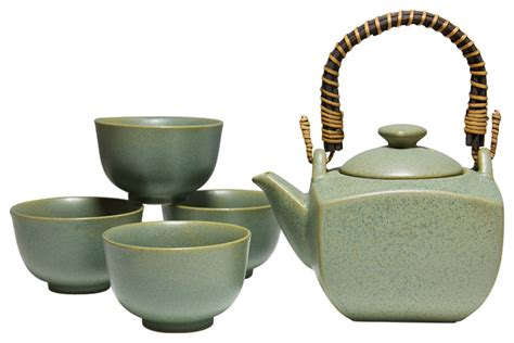 White Kitchen Furniture Sets stone green tea set asian tea sets by miya company