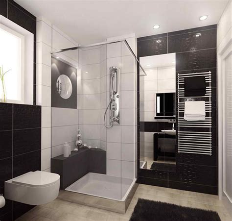 sleek ideas  modern black  white bathrooms home