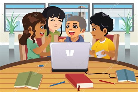 imagenes de niños trabajando matematicas ni 241 os de la escuela trabajando alrededor de una