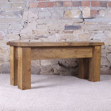 solid wood dining bench solid wood dining bench by h f notonthehighstreet com