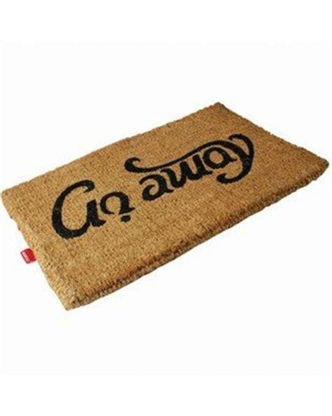 Go Away Mat by Reversible Come In Go Away Doormat Novelty Doormat