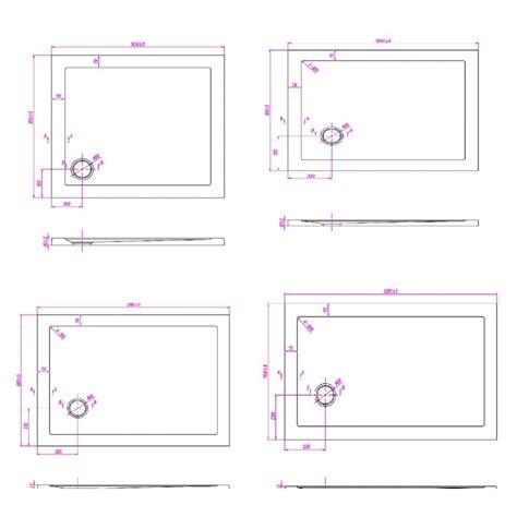 misure standard piatto doccia piatto doccia rettangolare ultra slim 4cm ribassato
