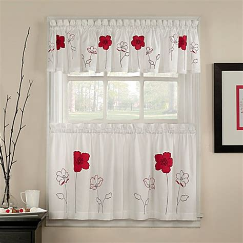 Poppy Kitchen Curtains Buy Poppy Garden Window Curtain Valance From Bed Bath Beyond