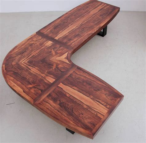 l shaped sofa table huge curved rosewood studio coffee or sofa table in l