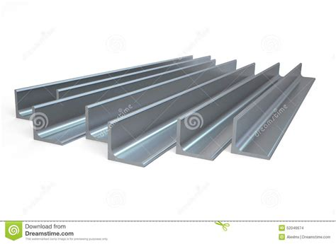 rolled metal l bar angle stock illustration image of