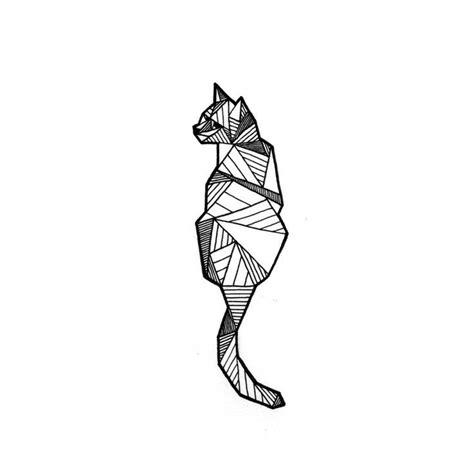 tattoo cat model the 25 best ideas about geometric cat on pinterest