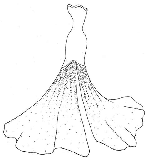 coloring page of a dress my design for my custom made wedding dress weddingbee