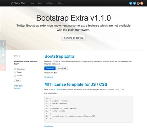 how to install bootstrap template free template