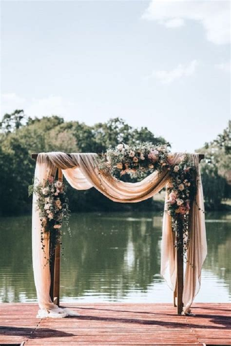 Wedding Arch Floral by Beautiful Simplicity Wedding Arch With Fabric Draping