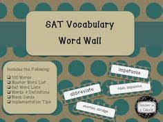 Sat Vocabulary Section by The Outsiders By S E Hinton Vocabulary Word Wall