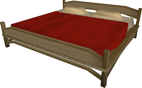 large bed image large teak bed built png runescape wiki fandom powered by wikia
