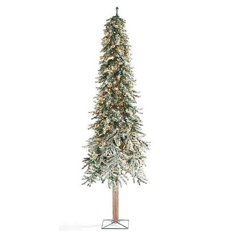 pre lit realistic trees realistic rustic snow lighted pre lit alpine tree indoor
