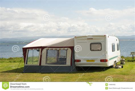 Caravan With Awning by Caravan With Awning Stock Photography Image 14690492