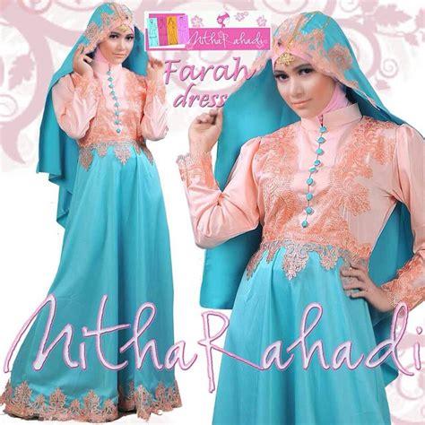 Promo Gamis Syari Fatma Biru Salem Busana Muslim Modern baju pesta farah dress by nitha rahadi gaun pesta satin hermes gaun pesta satin roberto cavali
