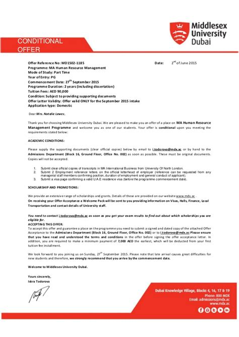 Conditional Acceptance Letter For College conditional acceptance letter college 28 images