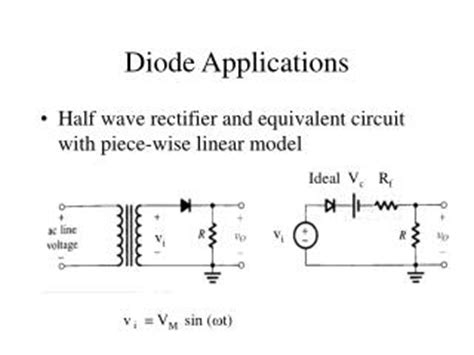 power diode and its application ppt lecture 7 diode circuit models and applications powerpoint presentation id 259799
