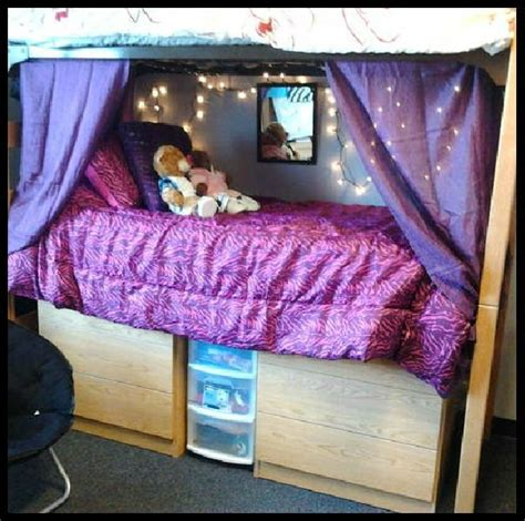 bottom bunk curtains be creative decorating your dorm room i used curtains as
