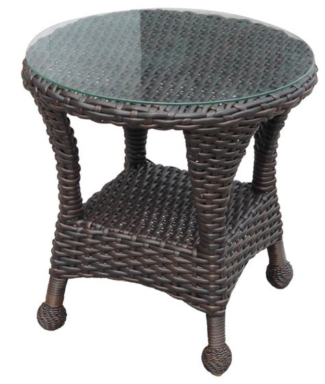 lands end patio furniture wicker seating sets gt richmond gt richmond end table with glass