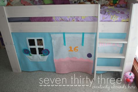 How To Make A Bunk Bed Tent No Sew Loft Bed Felt Tent Tutorial Inspiration Made Simple