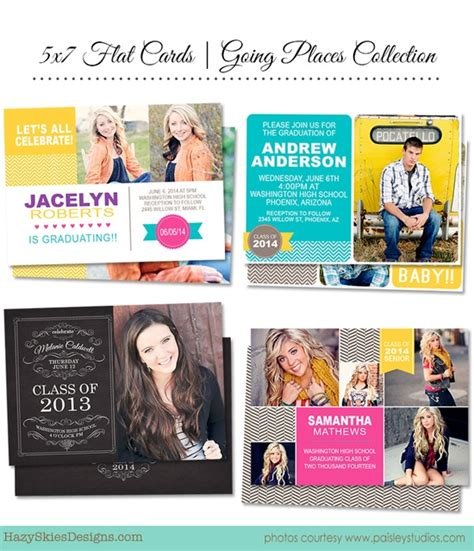 graduation announcements templates for photographers source hazyskiesdesigns com via hazy skies designs on