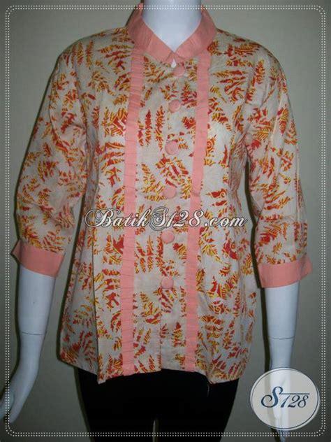 Ld Cap Smok Baju Batik Baju Batik Kantor toko baju batik pegawai bank blus model terbaru batik