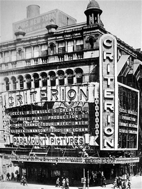 Cinema Nyc criterion vitagraph theatre new york city