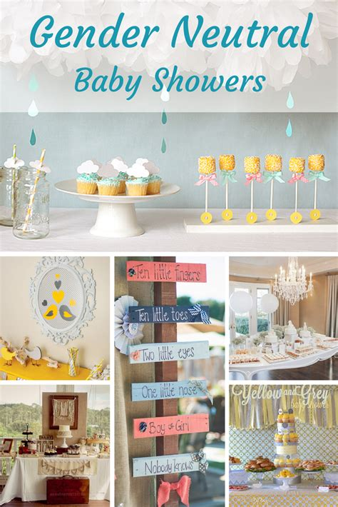 unknown neutral gender baby shower party themes color