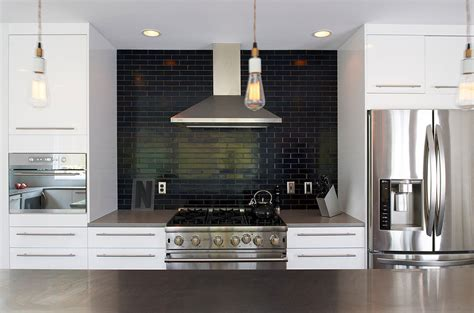 Black Backsplash Kitchen Black Kitchen Tiles Ideas Quicua Com