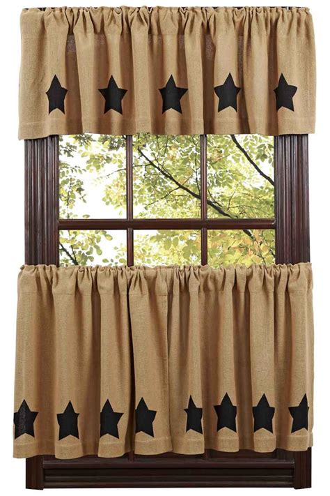 curtain tiers burlap black star tier curtains tier curtains www