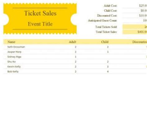 ticket sales template 187 template haven