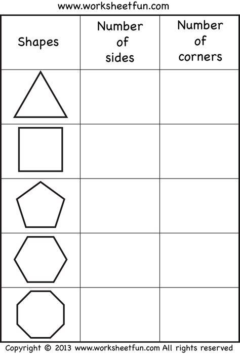 worksheet on shapes for class 2 1st grade shapes worksheets worksheets