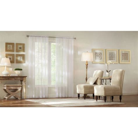 home decorators collection sheer white sheer voile rod