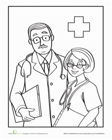 doctor coloring pages preschool color the friendly doctors worksheets community helpers