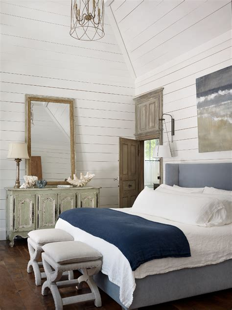shiplap bedroom elegant beach house interior ideas home bunch interior