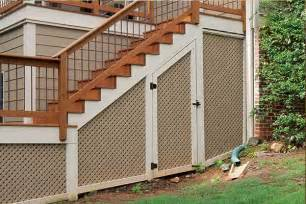 Pictures Of Sloped Backyard Landscaping Ideas Under Deck Storage