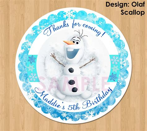 olaf printable gift tags disney frozen favor tag or label olaf frozen birthday party