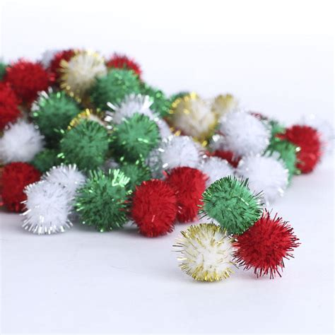 christmas tinsel craft pom poms craft pom poms kids