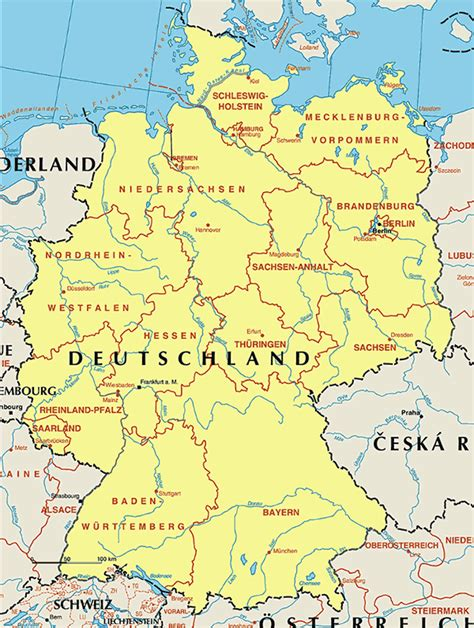 karte deutschland deutschlandkarte deutschland karte region bild