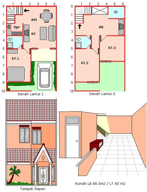 desain rumah mungil luas tanah  luas bangunan   dunia baginda