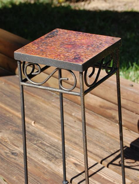 Hammered Metal Table L Hammered Metal Table L Hammered Metal 36 Quot Square Chat Table Hauser S Patio Hammered Metal