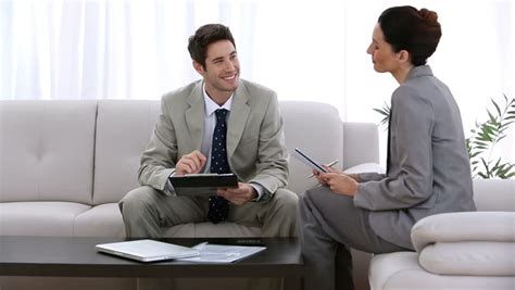 job couch job applicant shaking hands of business people during a