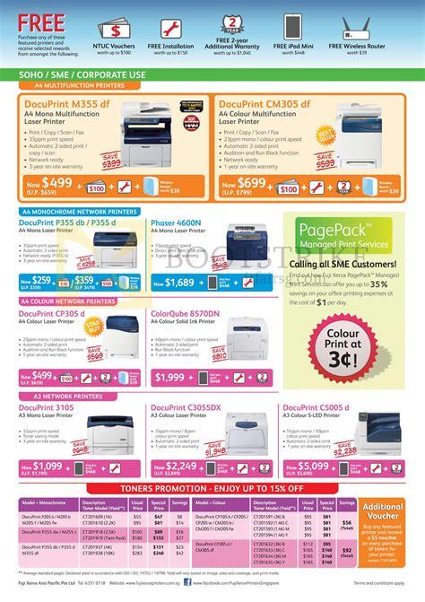 Fuji Xerox Docuprint P355 D fuji xerox printers laser s led docuprint m355 df cm305 df p355 db p355 d cp305 d 3105
